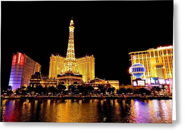City Lights Greeting Cards - Las Vegas 012 Greeting Card by Lance Vaughn