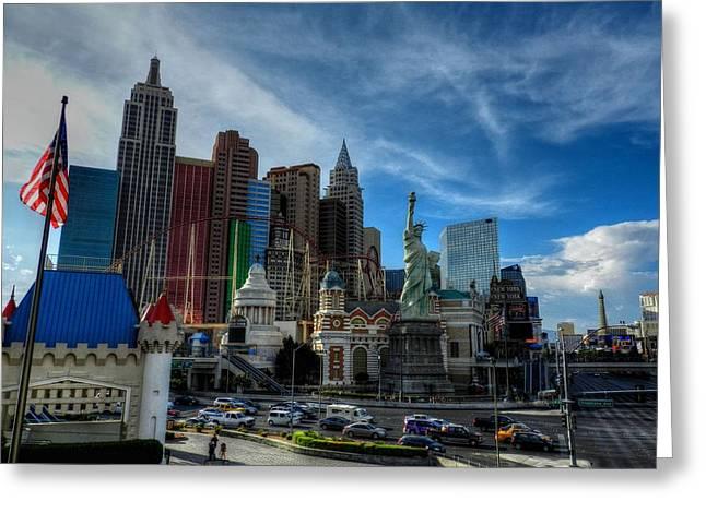 Las Vegas 051 Greeting Card by Lance Vaughn