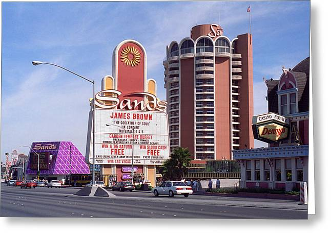 Glitter Gulch Greeting Cards - Las Vegas 1994 Greeting Card by Frank Romeo