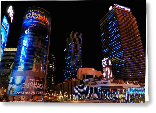 Las Vegas - Aria and Cosmopolitan 001 Greeting Card by Lance Vaughn