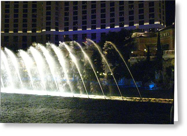 Ponds Greeting Cards - Las Vegas - Bellagio Casino - 121217 Greeting Card by DC Photographer