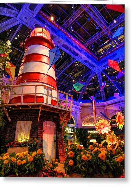 Kites Greeting Cards - Las Vegas - Bellagio Conservatory and Botanical Gardens 003 Greeting Card by Lance Vaughn