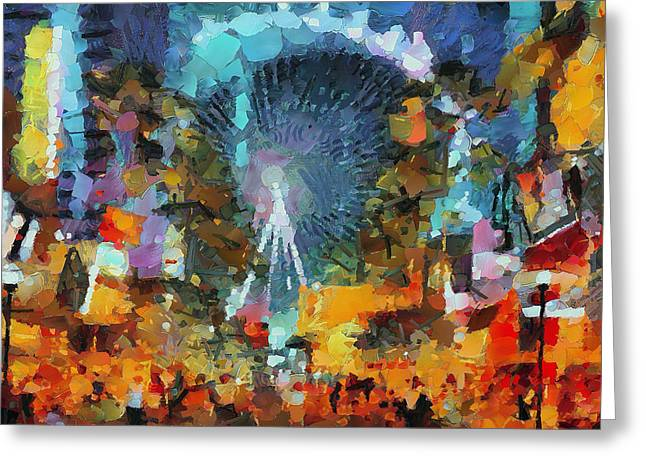 Las Vegas Art Greeting Cards - Las Vegas Big Eye Greeting Card by Yury Malkov