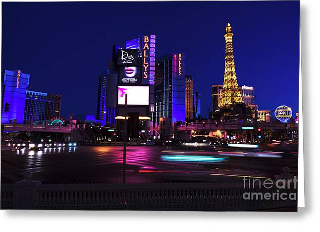Las Vegas Artist Greeting Cards - Las Vegas Blues Greeting Card by John Rizzuto