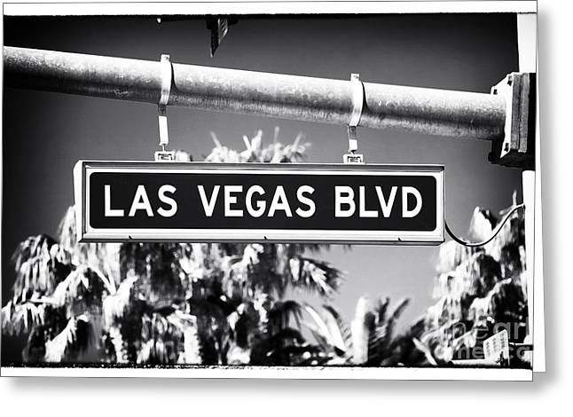 Las Vegas Boulevard Greeting Card by John Rizzuto