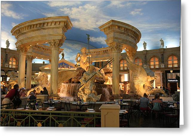 Las Vegas - Caesars Palace - 121211 Greeting Card by DC Photographer
