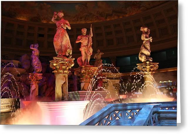 Gambler Greeting Cards - Las Vegas - Caesars Palace - 121215 Greeting Card by DC Photographer