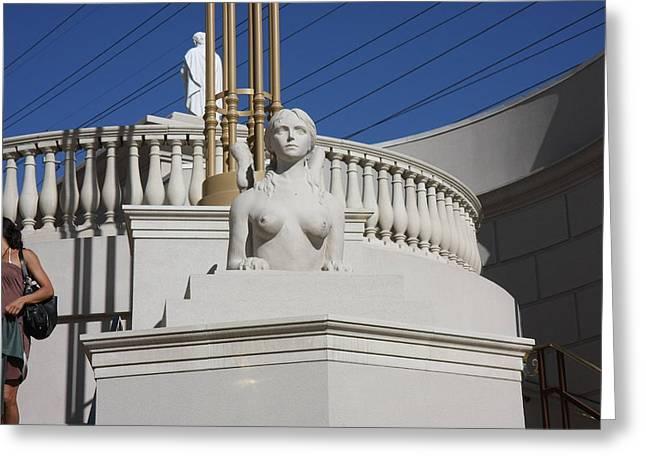 Las Vegas - Caesars Palace - 121223 Greeting Card by DC Photographer