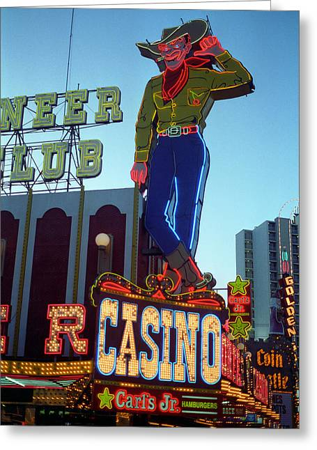 Glitter Gulch Greeting Cards - Las Vegas Downtown 1 Greeting Card by Frank Romeo