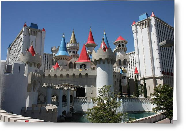 Medival Greeting Cards - Las Vegas - Excalibur Casino - 12122 Greeting Card by DC Photographer