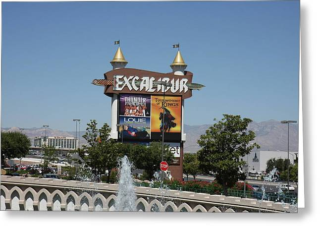 Medival Greeting Cards - Las Vegas - Excalibur Casino - 12123 Greeting Card by DC Photographer