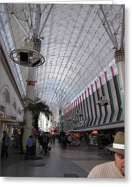 Game Greeting Cards - Las Vegas - Fremont Street Experience - 12121 Greeting Card by DC Photographer