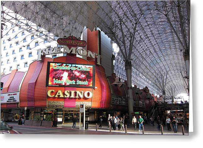 Game Greeting Cards - Las Vegas - Fremont Street Experience - 12122 Greeting Card by DC Photographer