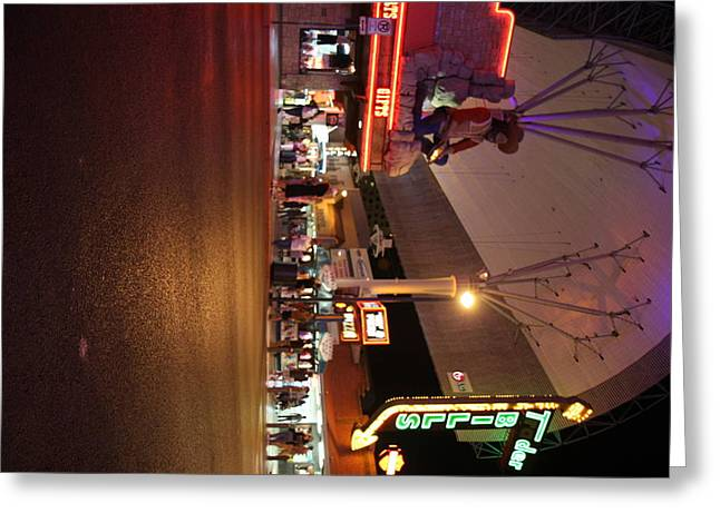 Game Greeting Cards - Las Vegas - Fremont Street Experience - 121223 Greeting Card by DC Photographer