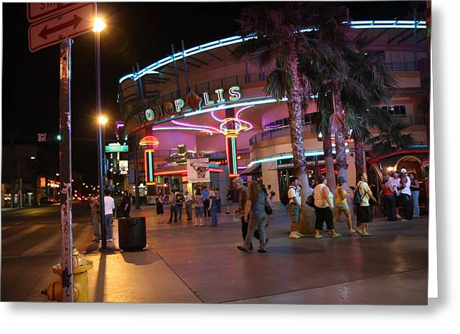 Las Vegas - Fremont Street Experience - 121224 Greeting Card by DC Photographer