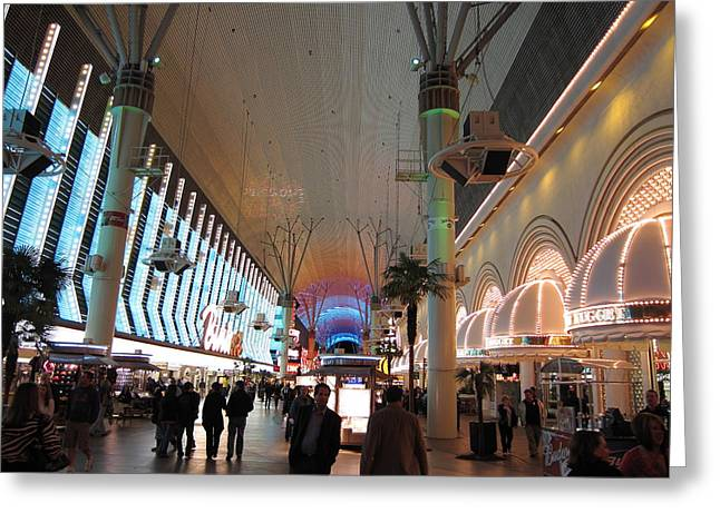 Las Vegas - Fremont Street Experience - 12126 Greeting Card by DC Photographer