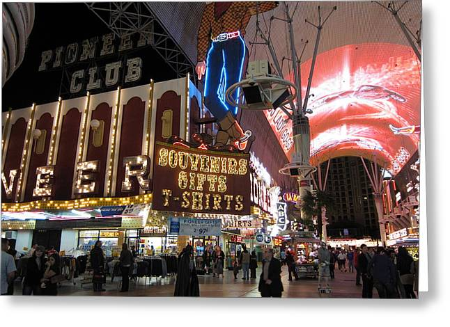 Freemont Greeting Cards - Las Vegas - Fremont Street Experience - 12127 Greeting Card by DC Photographer