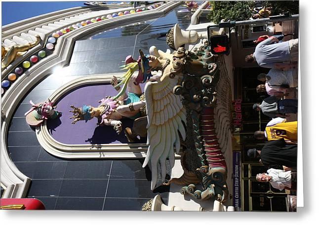 Lit Greeting Cards - Las Vegas - Harrahs Casino - 12123 Greeting Card by DC Photographer