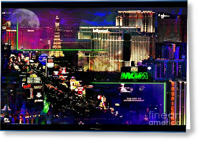 Las Vegas igniting your Fire Greeting Card by Christine Mayfield