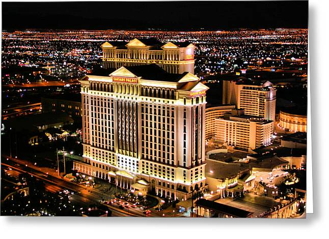 Las Vegas Greeting Card by Kristin Elmquist