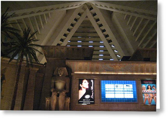 Egyptian Photographs Greeting Cards - Las Vegas - Luxor Casino - 12122 Greeting Card by DC Photographer