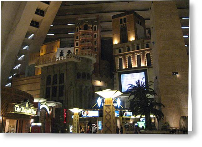 Egyptian Photographs Greeting Cards - Las Vegas - Luxor Casino - 12125 Greeting Card by DC Photographer