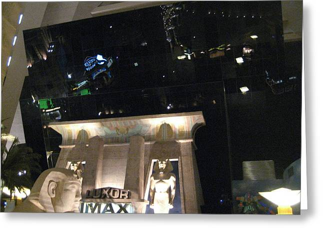 Egypt Greeting Cards - Las Vegas - Luxor Casino - 12126 Greeting Card by DC Photographer