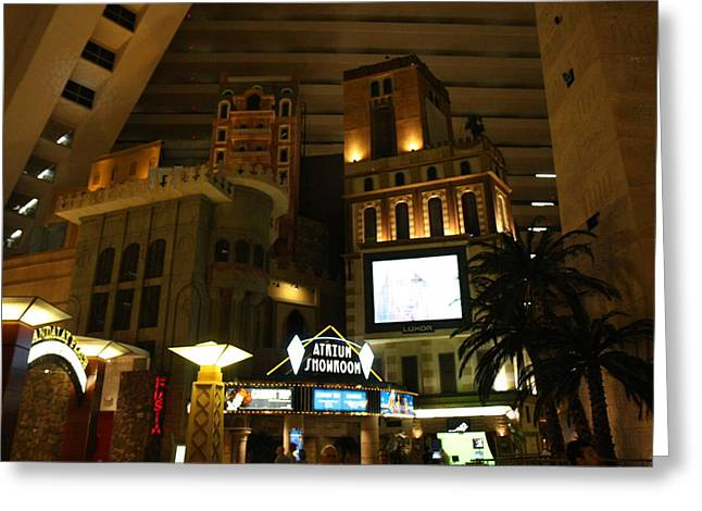 Egypt Greeting Cards - Las Vegas - Luxor Casino - 12128 Greeting Card by DC Photographer