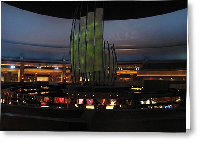 Lit Greeting Cards - Las Vegas - MGM Casino - 12121 Greeting Card by DC Photographer