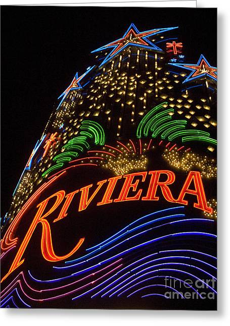 Freemont Street Greeting Cards - Las Vegas Neon 1 Greeting Card by Bob Christopher