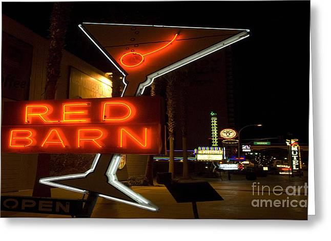 Freemont Street Greeting Cards - Las Vegas Neon 10 Greeting Card by Bob Christopher