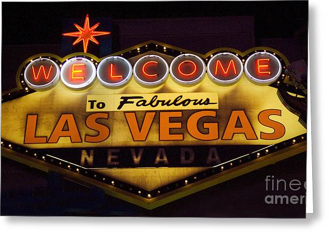 Las Vegas Neon 11 Greeting Card by Bob Christopher