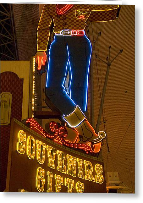Freemont Street Greeting Cards - Las Vegas Neon 12 Greeting Card by Bob Christopher