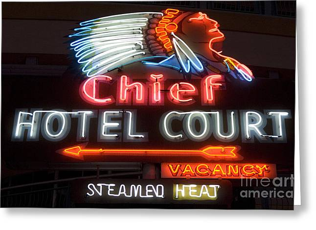 Freemont Street Greeting Cards - Las Vegas Neon 13 Greeting Card by Bob Christopher