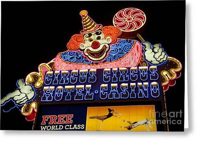 Freemont Street Greeting Cards - Las Vegas Neon 2 Greeting Card by Bob Christopher