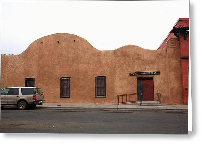 Adobe Greeting Cards - Las Vegas New Mexico Church Greeting Card by Frank Romeo