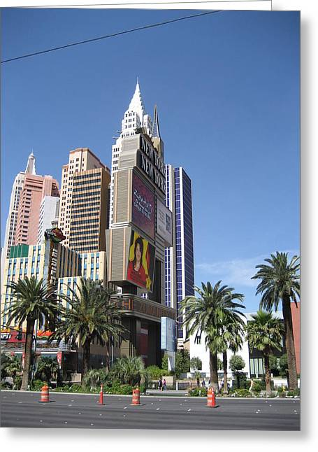 York Greeting Cards - Las Vegas - New York New York Casino - 12126 Greeting Card by DC Photographer