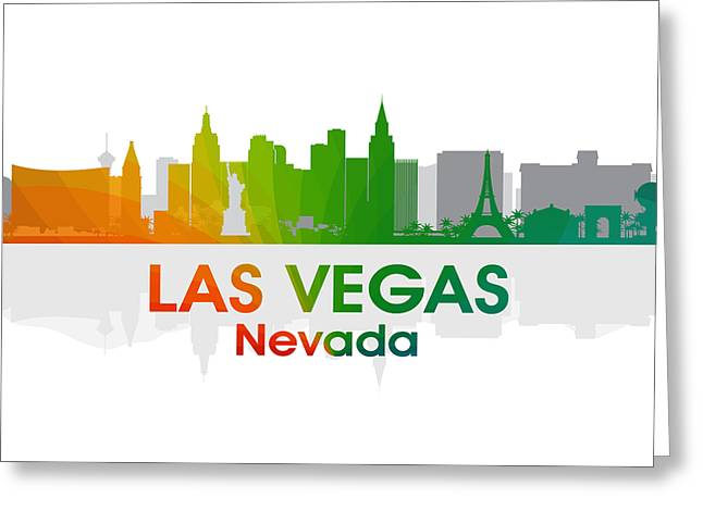 Las Vegas Mixed Media Greeting Cards - Las Vegas NV  Greeting Card by Angelina Vick