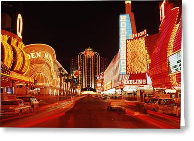 Visitors Greeting Cards - Las Vegas Nv Usa Greeting Card by Panoramic Images