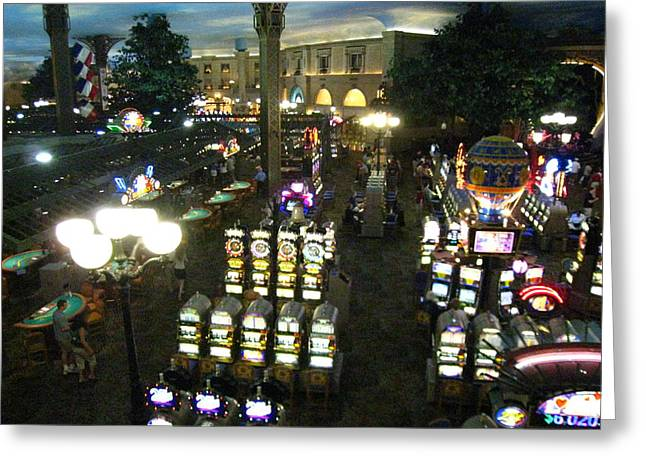 Balloon Greeting Cards - Las Vegas - Paris Casino - 121211 Greeting Card by DC Photographer