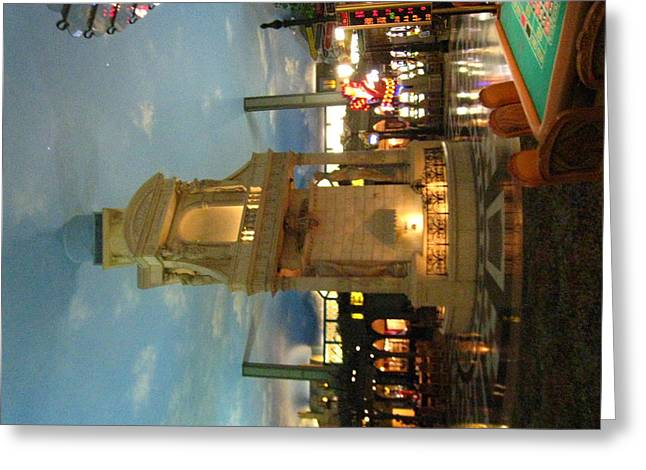 Air Photographs Greeting Cards - Las Vegas - Paris Casino - 121213 Greeting Card by DC Photographer