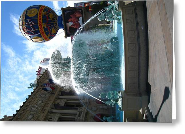 Balloon Greeting Cards - Las Vegas - Paris Casino - 121214 Greeting Card by DC Photographer