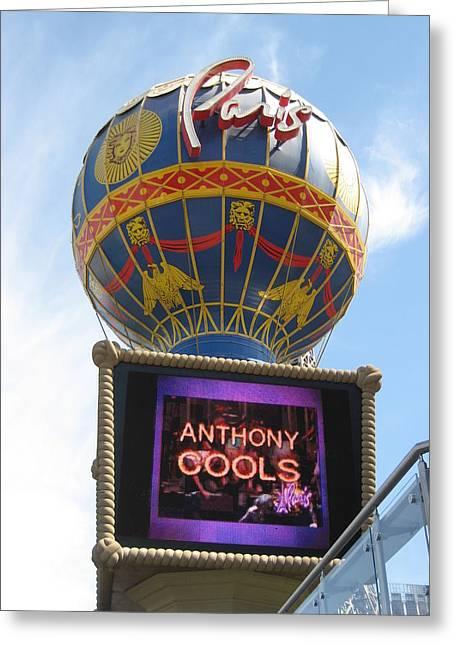 Tower Photographs Greeting Cards - Las Vegas - Paris Casino - 12123 Greeting Card by DC Photographer
