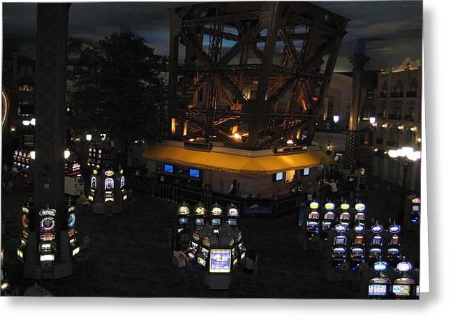 Tower Greeting Cards - Las Vegas - Paris Casino - 12127 Greeting Card by DC Photographer