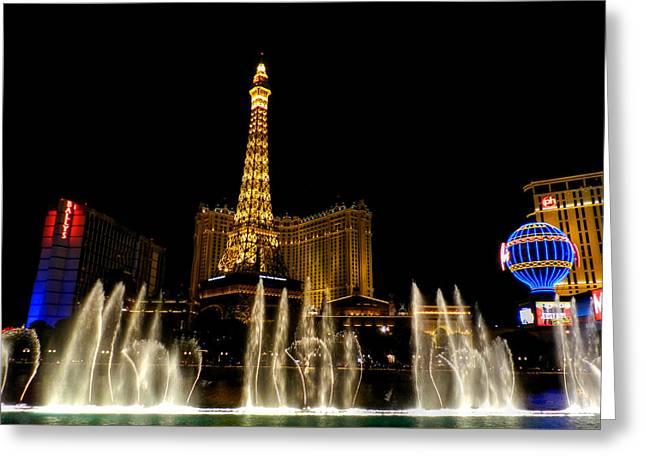 Las Vegas - Paris Hotel And Casino 001 Greeting Card by Lance Vaughn