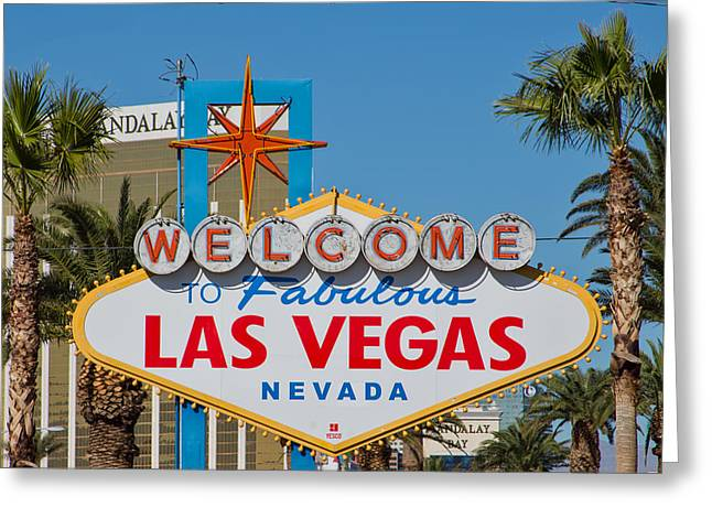 Viva Las Vegas Greeting Cards - Las Vegas Sign Greeting Card by Natural Focal Point Photography