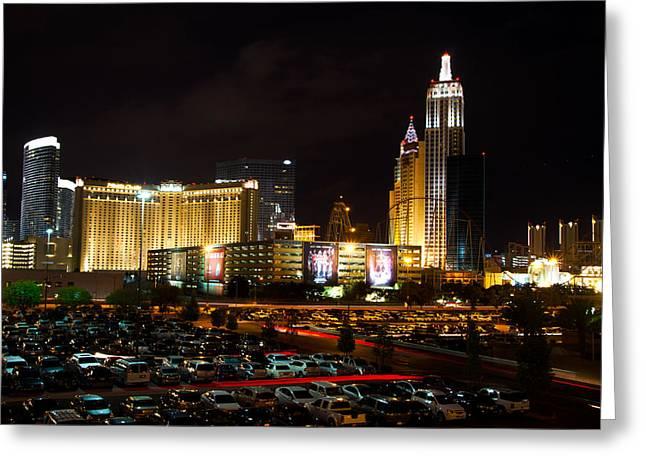Tropicana Las Vegas Greeting Cards - Las Vegas Skyline  Greeting Card by Arnold Despi