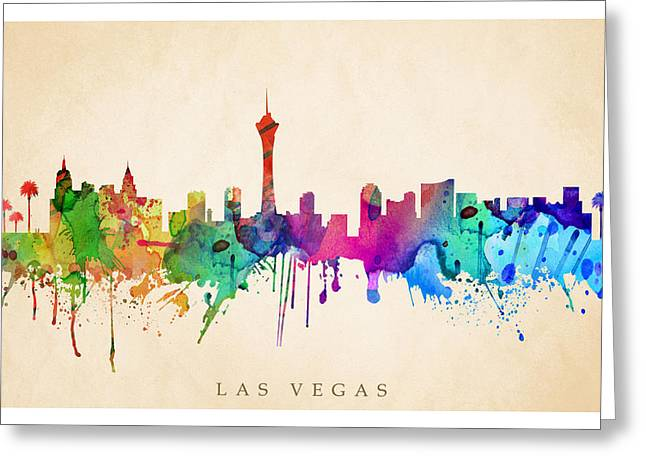 Steve Will Greeting Cards - Las Vegas  Greeting Card by Steve Will