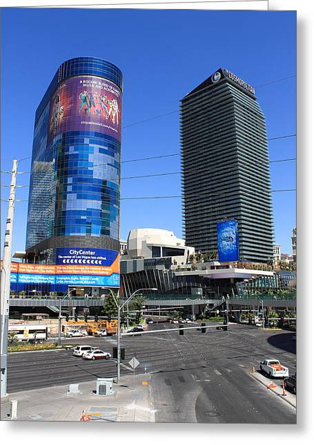 Road Roller Greeting Cards - Las Vegas Strip 7 Greeting Card by Frank Romeo