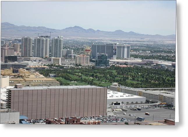 Vegas Greeting Cards - Las Vegas - The Srip - 121214 Greeting Card by DC Photographer